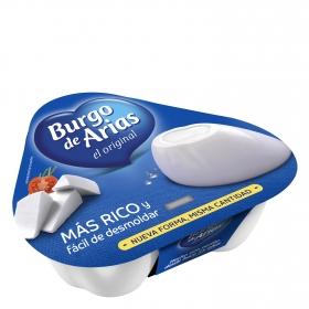 Queso blanco pasterizado Burgo de Arias pack de 3 unidades de 72 g.