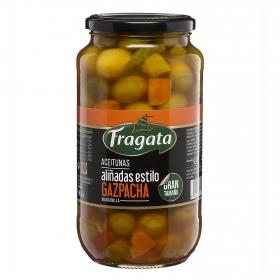 Aceitunas manzanilla aliñadas estilo gazpacho