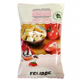 Snacks horneados sabor jamón y tomate Felipas 90 g.