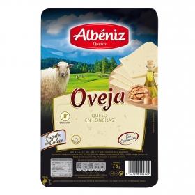 Queso de oveja en lonchas Albeniz sin gluten 75 g.