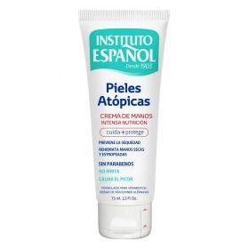 Crema de manos para pieles atópicas Instituto Español 75 ml.