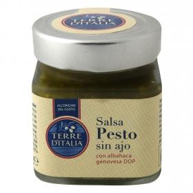 Salsa pesto genovés sin ajo Terre d'Italia 120 g.