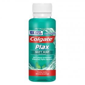 Enjuague bucal Plax soft Mint Colgate 100 ml.