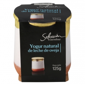 Yogur natural de leche de oveja