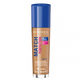 Maquillaje Match Perfection 502 caramel Rimmel 30 ml.