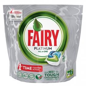 Lavavajillas máquina platinum Todo en 1 en cápsulas Fairy 24 ud.