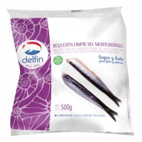 Boquerón limpio congelado Delfín 500 g.