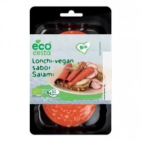 Lonchas veganas sabor salami ecológicas Ecocesta 100 g.