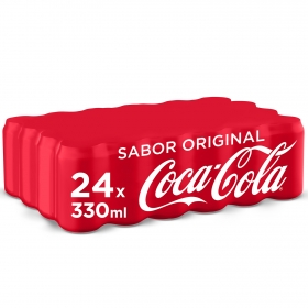 Refresco de cola Coca Cola pack de 24 latas de 33 cl.