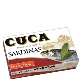 Sardinas en escabeche Cuca 120 g.