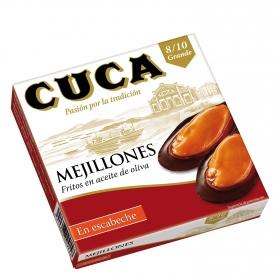 Mejillones en escabeche con aceite de oliva 8/10 Cuca 115 g.