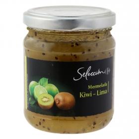 Mermelada de kiwi y lima Carrefour Selección 220 g.