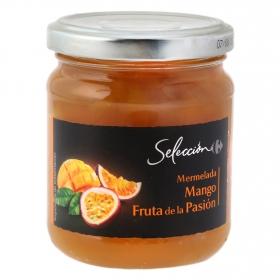 Mermelade de mango y fruta de la pasión Carrefour Selección 220 g.