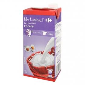 Leche entera Carrefour sin lactosa brik 1 l.