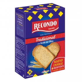 Pan tostado normal Recondo 270 g.