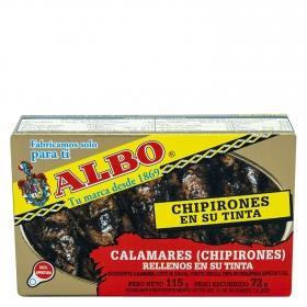 Chipirones rellenos en su tinta Albo 72 g.