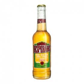 Cerveza rubia con tequila