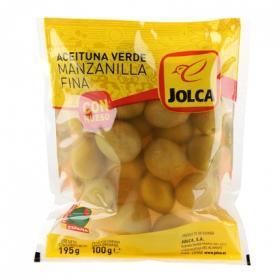 Aceitunas verdes manzanilla con hueso