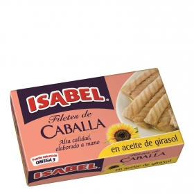 Filetes de Caballa en aceite vegetal Isabel 81 g.