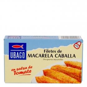 Filetes de caballa en salsa de tomate Ubago 90 g.