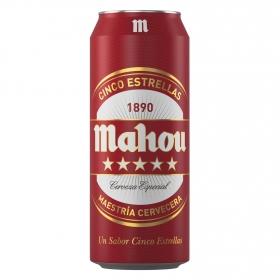 Cerveza Mahou 5 Estrellas especial lata 50 cl.