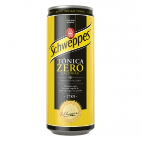 Tónica Schweppes zero calorías lata 33 cl.