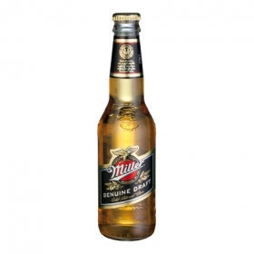 Cerveza Miller Genuine Draft americana botella 33 cl.