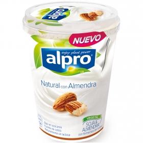 Yogur de soja natural con almendra
