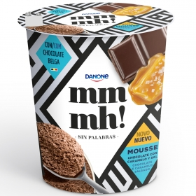 Mousse de chocolate con caramelo y sal Danone - mmmh! 200g.