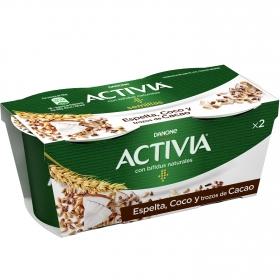 Yogur bífidus con espelta coco y trozos de cacao