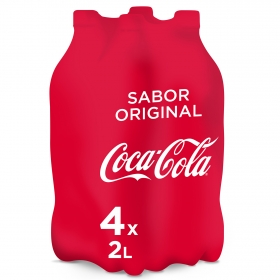 Refresco de cola Coca Cola pack de 4 botellas