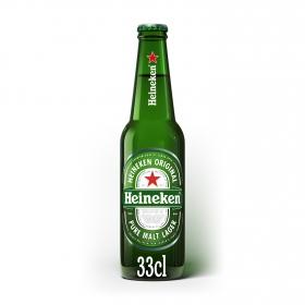 Cerveza Heineken Lager botella 33 cl.