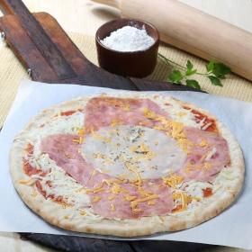 Pizza york, chedda, mozzarella y provolone