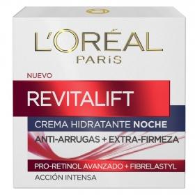 Crema de noche antiarrugas + firmeza L'Oréal-Revitalift 50 ml.