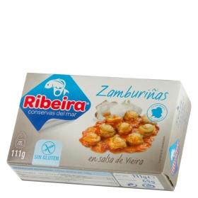 Zamburiñas en salsa de vieira Ribeira sin gluten 65 g.