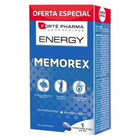 Vitaminas para la memoria Memorex Forté Pharma - Energy 56 comprimidos.