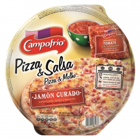 Pizza Andaluza con jamón curado, tomate y mozzarella Campofrío 345 g.