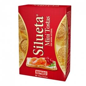 Tostadas mini  con harina integral Bimbo Silueta 100 g.