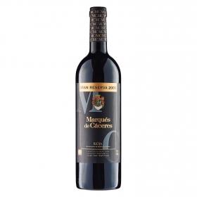 Vino D.O. Rioja tinto gran reserva Marqués de Cáceres 75 cl.