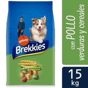 Brekkies Pienso para Perros  Adultos pollo y cereales 15 kg