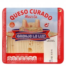 Tapas queso curado cortado