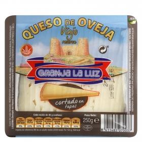 Tapas queso oveja cortado