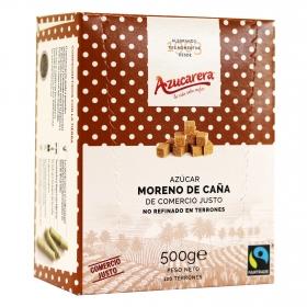 Azúcar moreno de caña integral en terrones Azucarera 500 g.