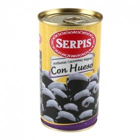 Aceitunas negras con hueso Serpis 185 g.