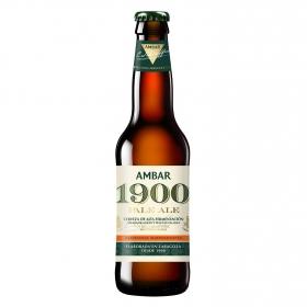Cerveza Ambar 1900 Pale Ale alta fermentación botella 33 cl.