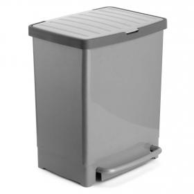 Cubo Pedal Reciclaje TATAY 30 l - Gris