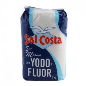 Sal marina yodada con flúor Sal Costa 1 kg.