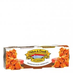 Calamares trozos en salsa americana Palacio de Oriente pack de 3 unidades de 78 g.