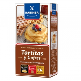Harina de trigo para tortitas y gofres Harimsa 500 g.
