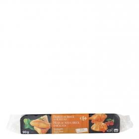 Hoja de pasta brick rollo 1,5 m - 6 hojas Carrefour 90 g.